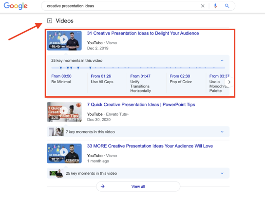 Example of Getting More Real Estate on the SERPs