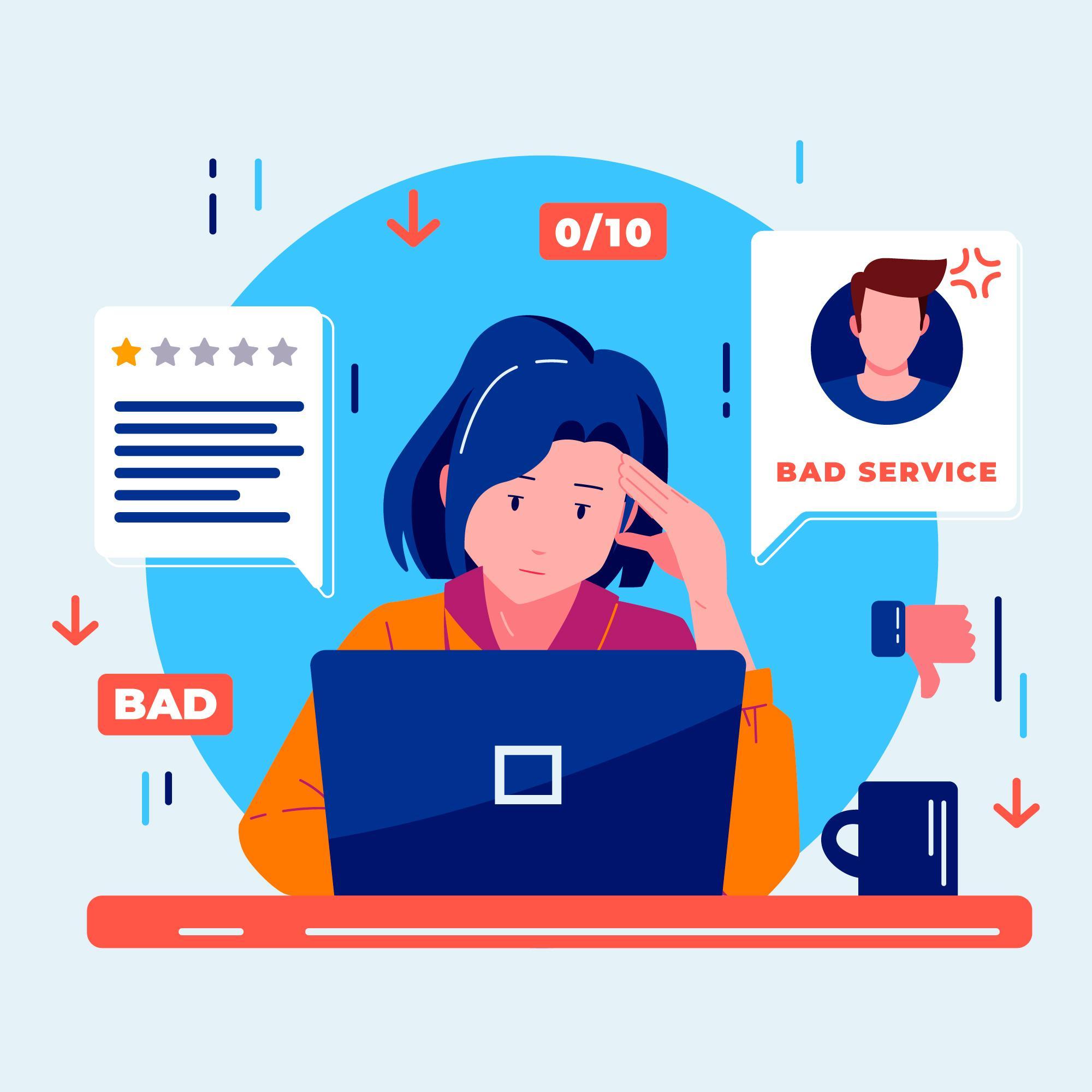 Was tun bei schlechten Bewertungen von Kunden?