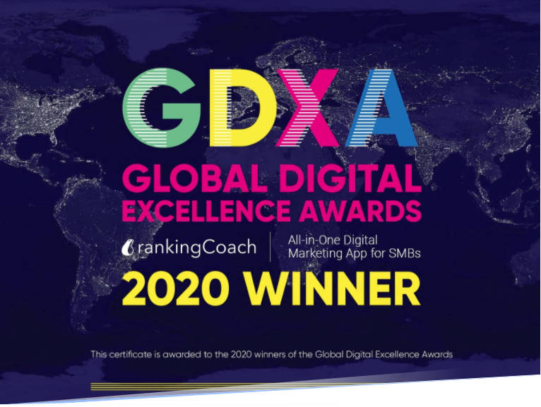 rankingCoach Wins GDX Award for Best Global Search Software Tool