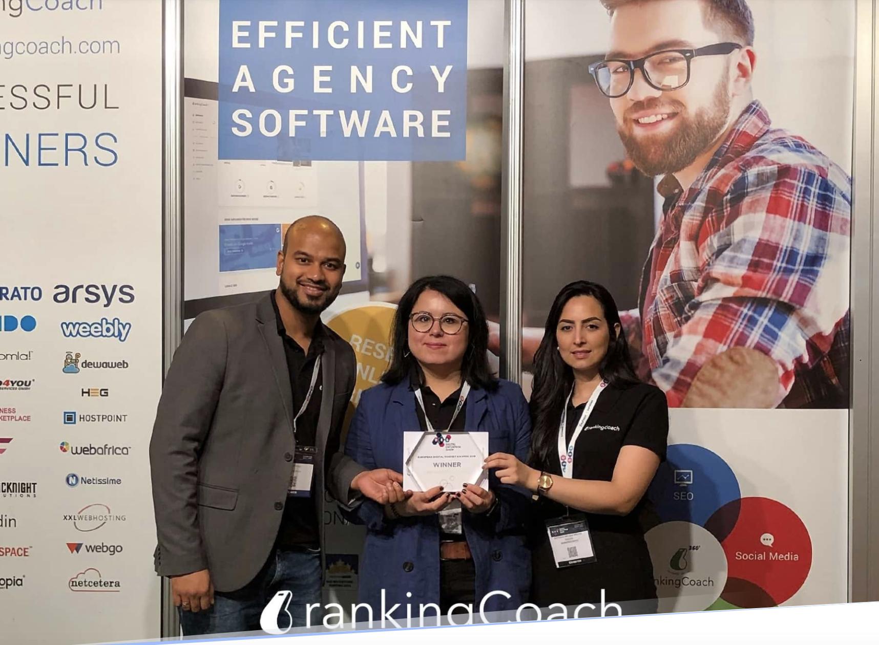 rankingCoach Wins Best Marketing Innovation 2019
