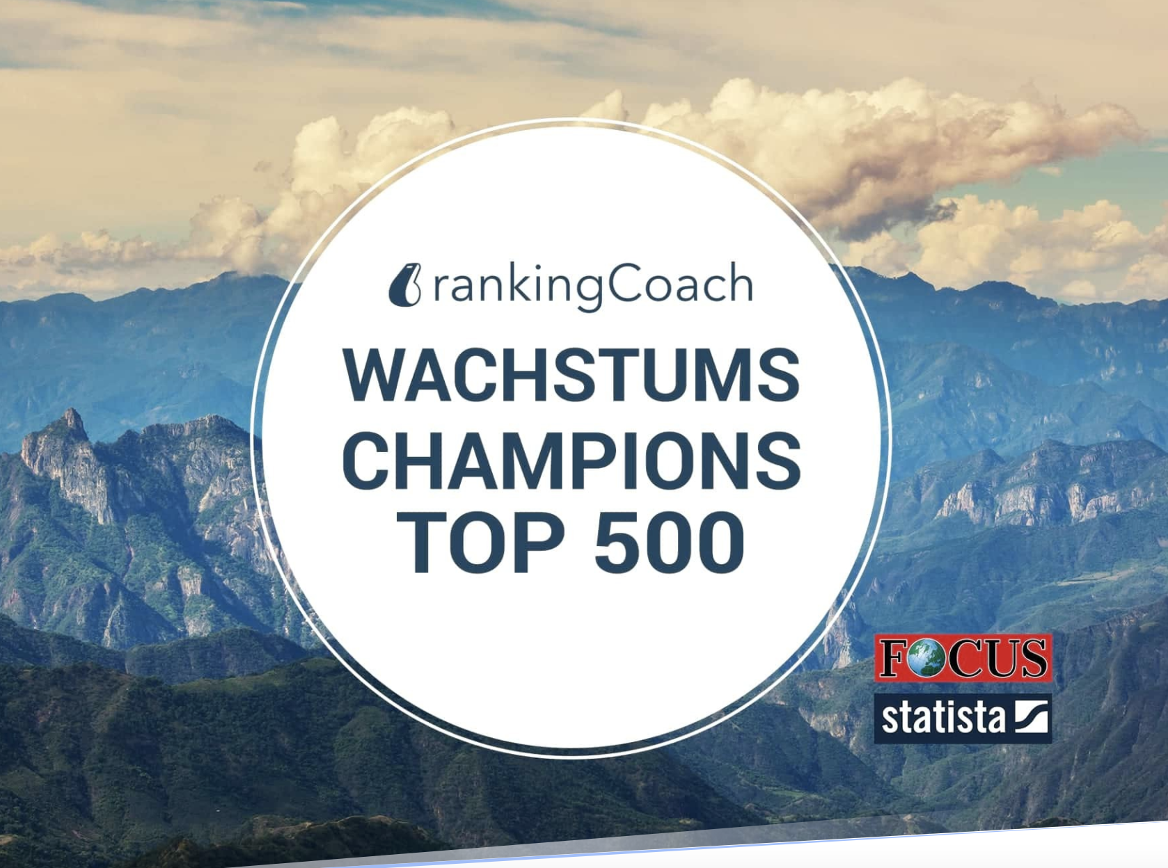 Business Growth Champions 2020: rankingCoach makes the list once again!