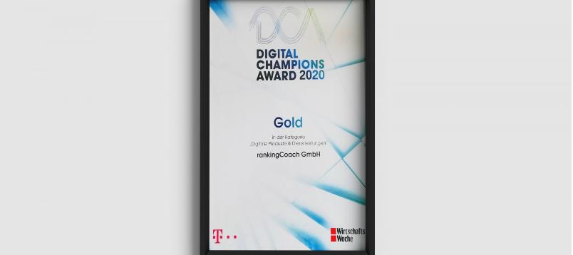 rankingCoach vince il DIGITAL CHAMPIONS AWARD 2020