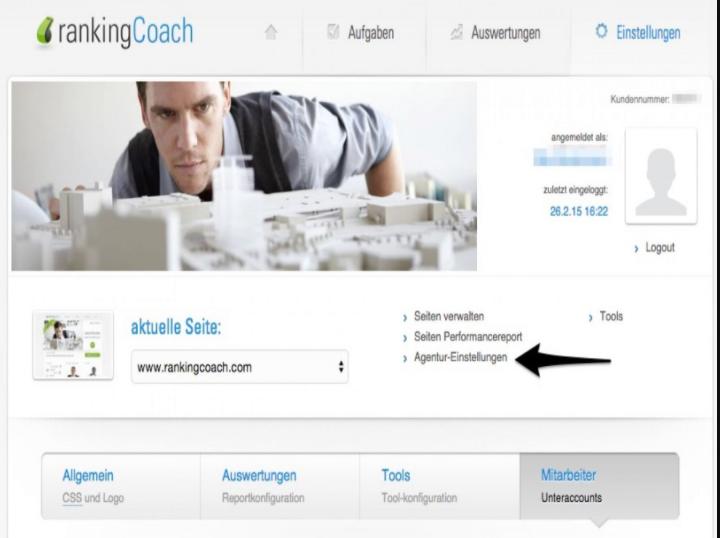 rankingCoach Agenturversion: Die Mitarbeiter-Funktion